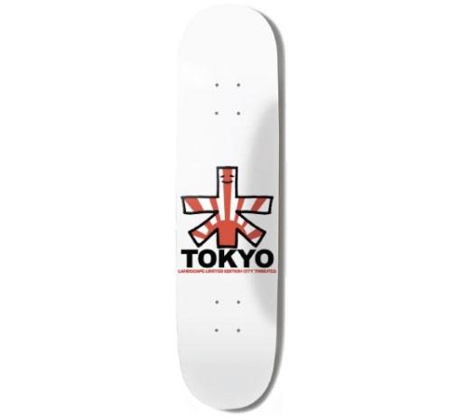 """Landscape Skateboard Deck - 7.5"""" Team (Tokyo)"""