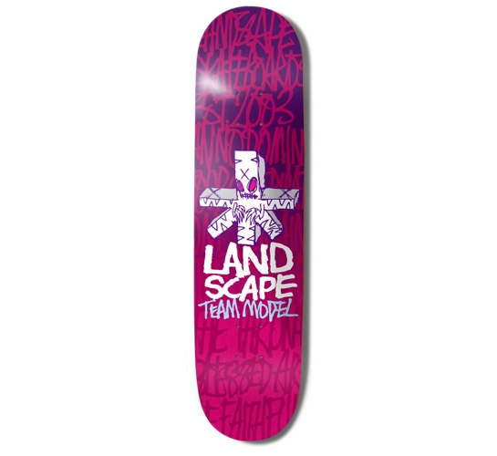 "Landscape Skateboard Deck - 8"" Team (Fos)"
