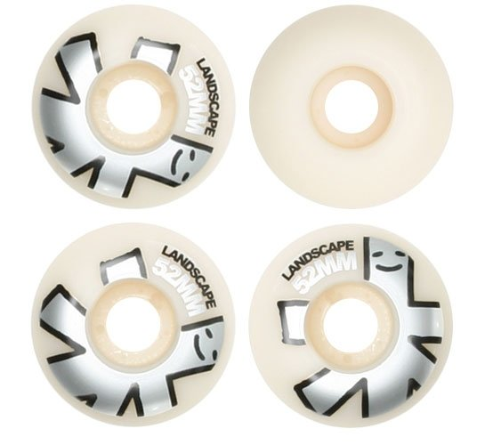 Landscape Skateboard Wheels - 52mm Big Logo