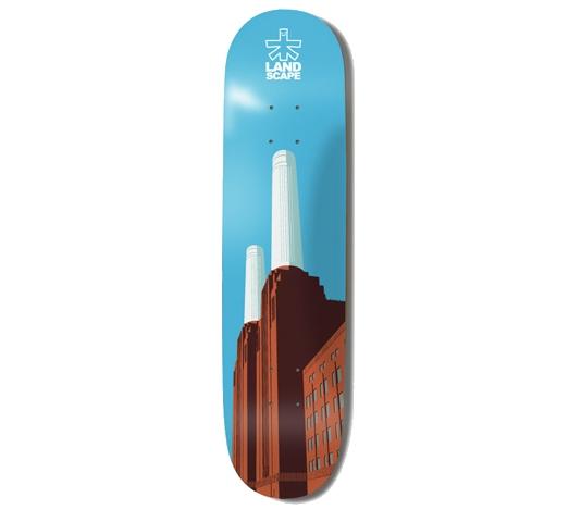 """Landscape Skateboard Deck - 8"""" Team (Battersea Power Station)"""