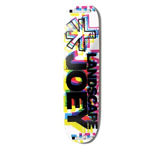 """Landscape Skateboard Deck - 7.625"""" Joey (CMYK3)"""
