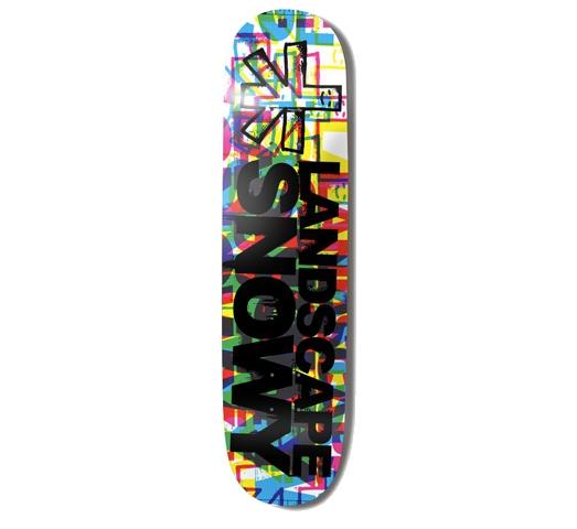 """Landscape Skateboard Deck - 7.75"""" Snowy (CMYK3)"""