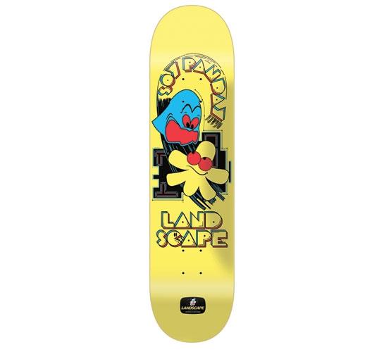 "Landscape Skateboard Deck - 8"" Soy (Pacman)"