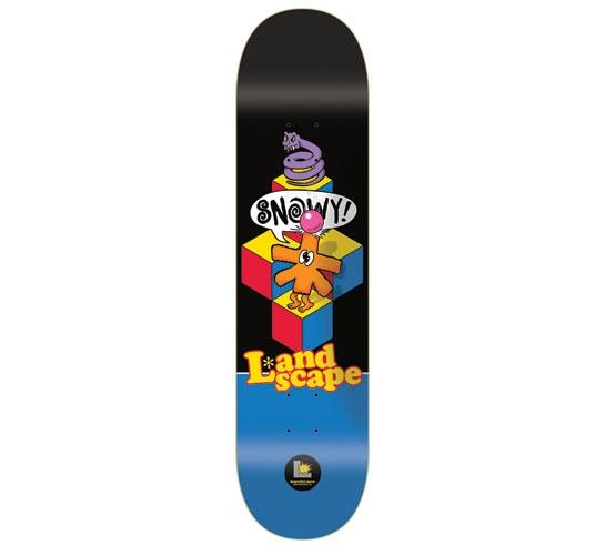 """Landscape Skateboard Deck - 7.625"""" Snowy (Qbert)"""
