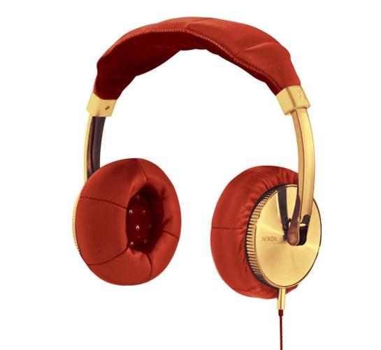 Nixon Master Blaster Headphones (Gold/Red)