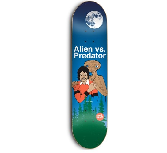"Skate Mental Skateboard Deck - 8"" Stabba (Alien Vs)"