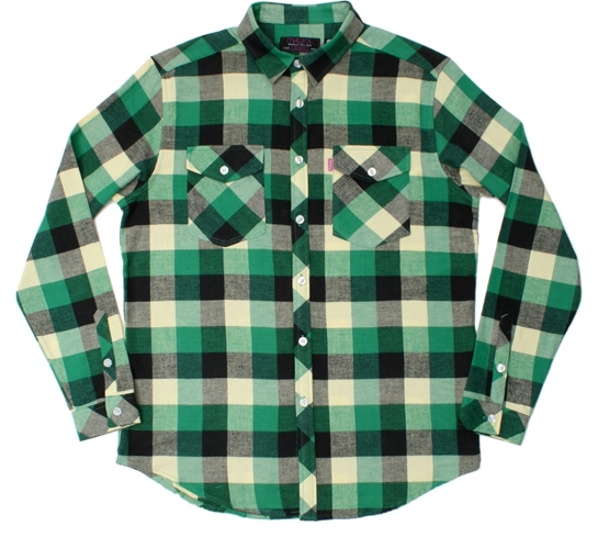 Mishka NYC Mens Shirt - Loveless Flannel (Green)