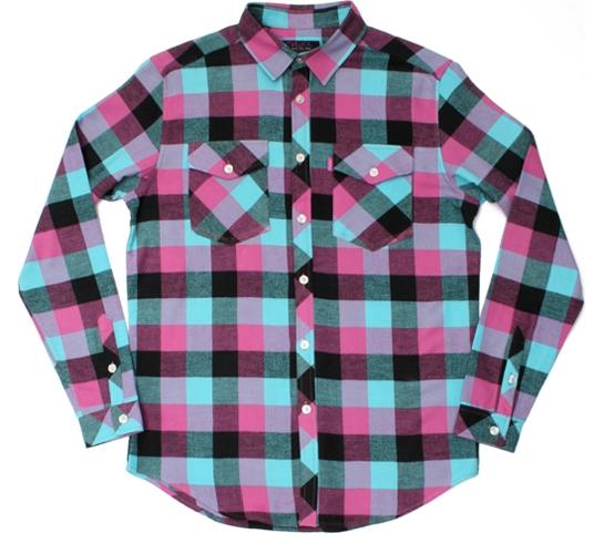 Mishka NYC Mens Shirt - Loveless Flannel (Magenta)
