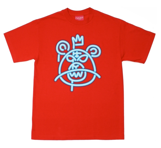 Mishka NYC Mens T-Shirt - Neon Mop (Red)