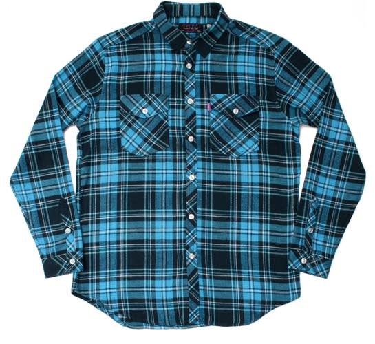 Mishka NYC Mens Shirt - Thayil Flannel (Blue)