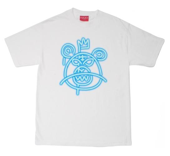 Mishka NYC Mens T-Shirt - Neon Mop (White)
