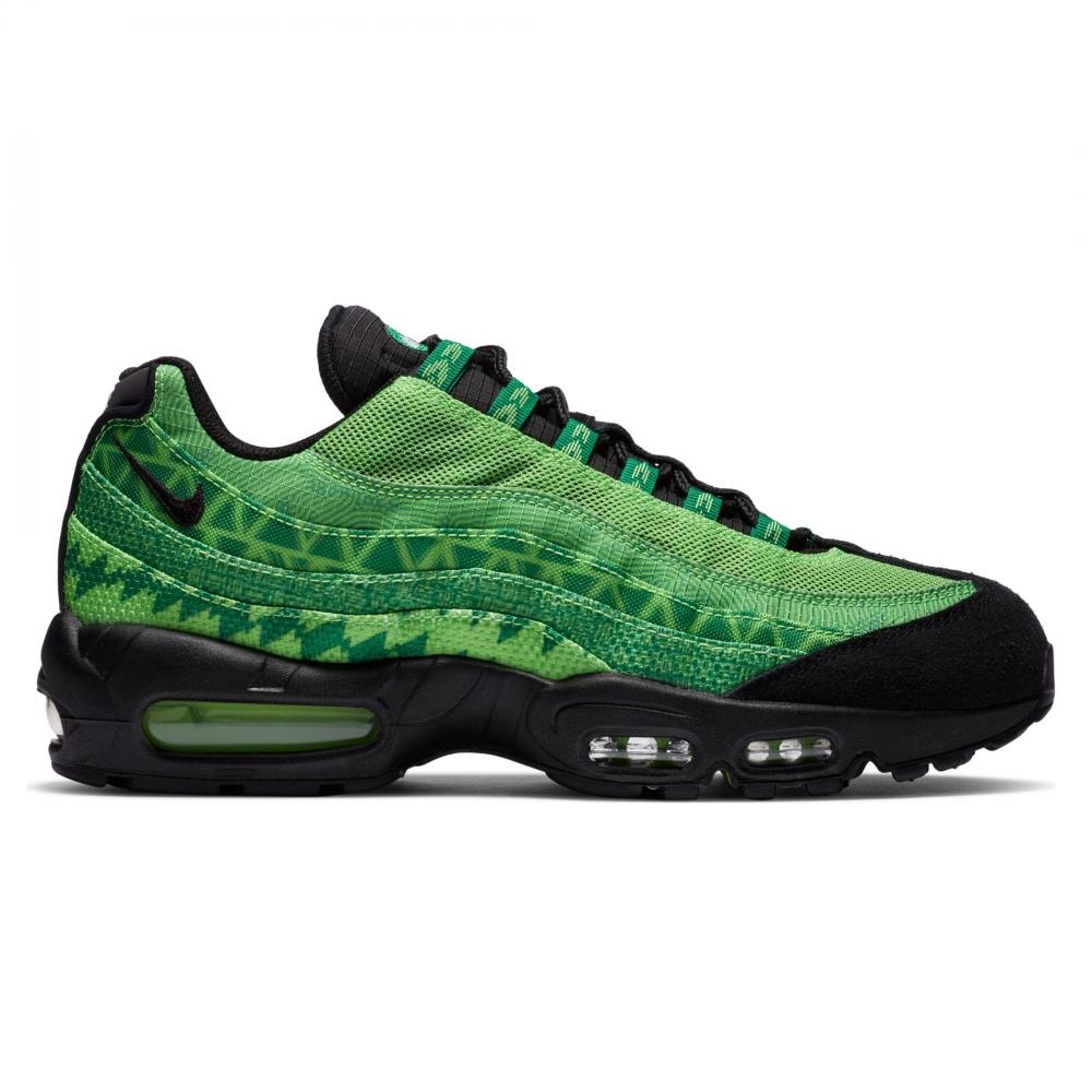Nike Air Max 95 'Naija' (Pine Green/Black-Sub Lime-White)