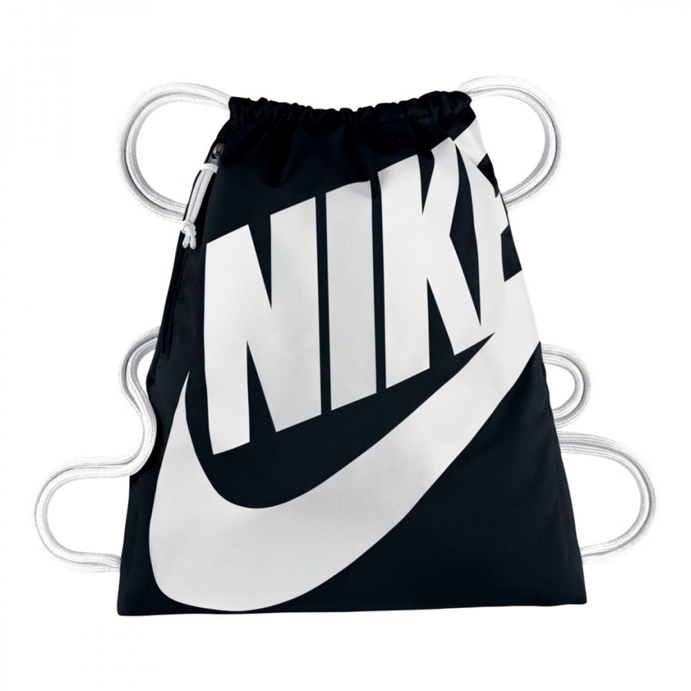 Nike Heritage Drawstring Backpack (Black)
