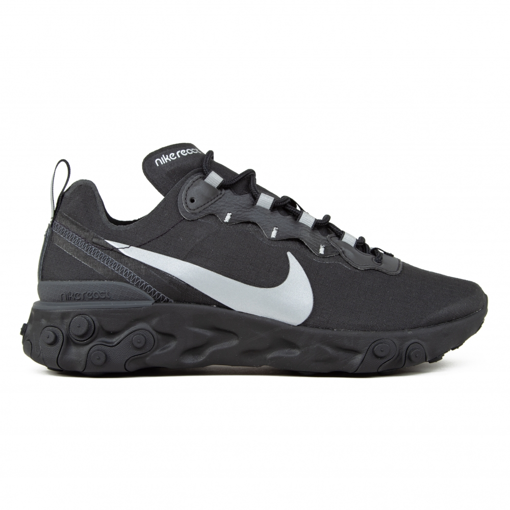 Nike React Element 55 SE 'Black Reflective' (Black/Anthracite)