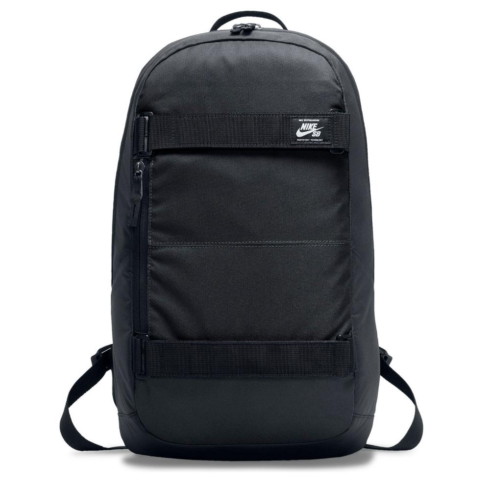 Nike SB Courthouse Skateboarding Backpack (Black/Black/White)