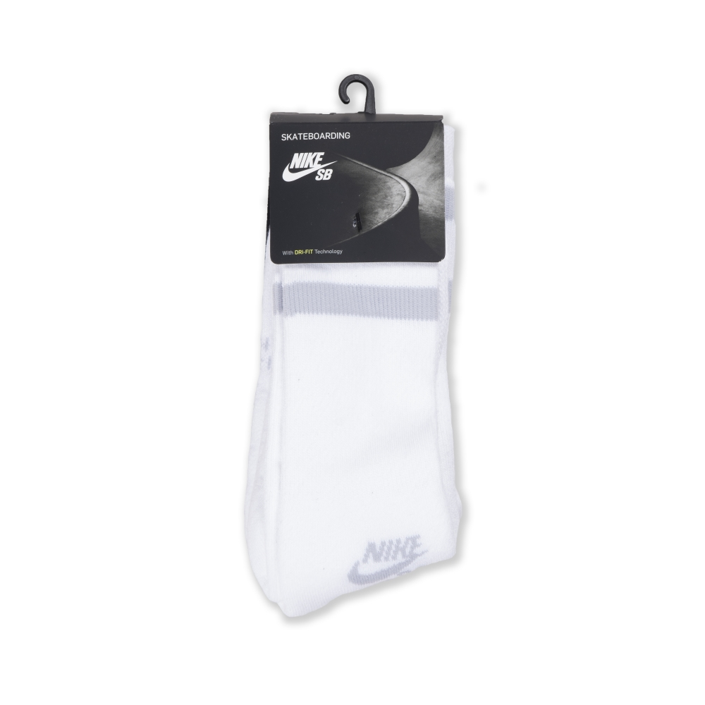 Nike SB Dri-FIT Crew Socks Triple Pack (White/Wolf Grey)