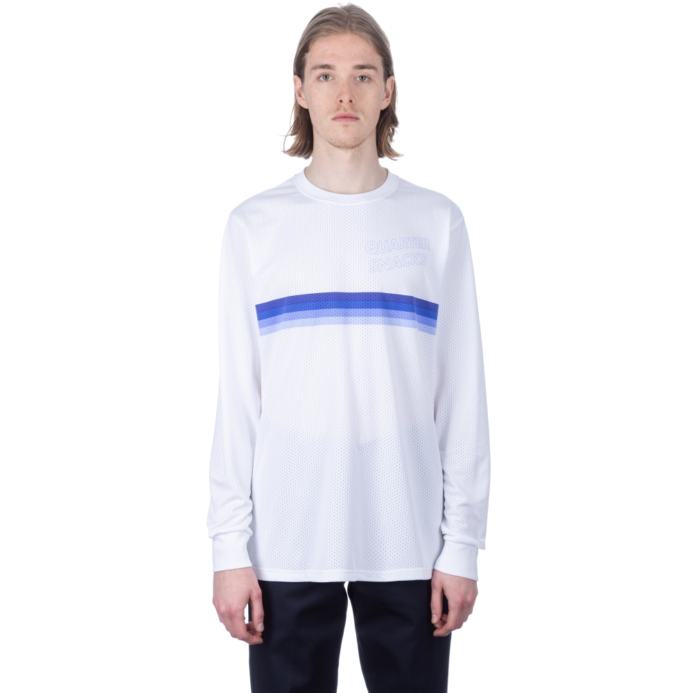 Nike SB x Quartersnacks Dry Long Sleeve T-Shirt (White/Royal Pulse)