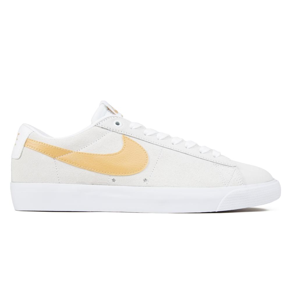 Nike SB Zoom Blazer Low GT (White/Club Gold-White-Light Thistle)
