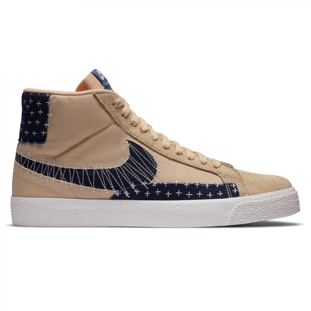 Nike SB Zoom Blazer Mid Premium (Sesame/Mystic Navy-Sail-Gum Light Brown)