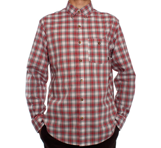 Nike SB Foundry L/S Woven Shirt (Varsity Red)