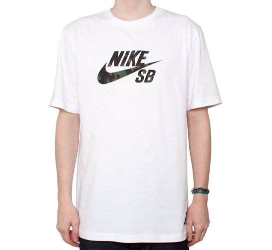 Nike SB Icon Camo Fill T-Shirt (White)