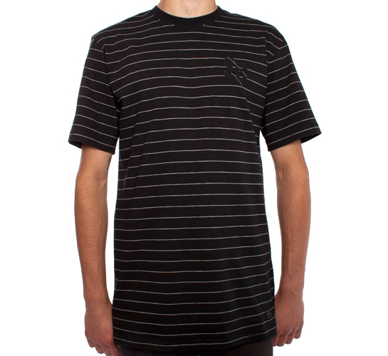 Nike SB Stripes T-Shirt (Black/Dark Grey)