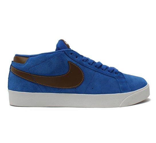 Nike SB Blazer CS Skate Shoes (Blue Sapphire/Dark Khaki)