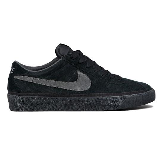 Nike SB Bruin Skate Shoes (Black/Midnight Fog)
