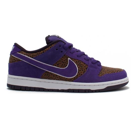 Nike SB Dunk Low Pro Shoes (Bison/Varsity Purple)