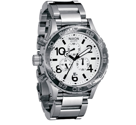 Nixon The 42-20 Chrono Watch (White)