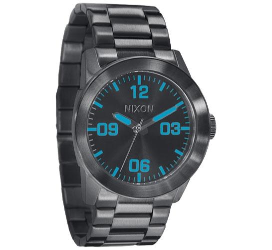 Nixon The Private SS Watch (Gunmetal/Blue)