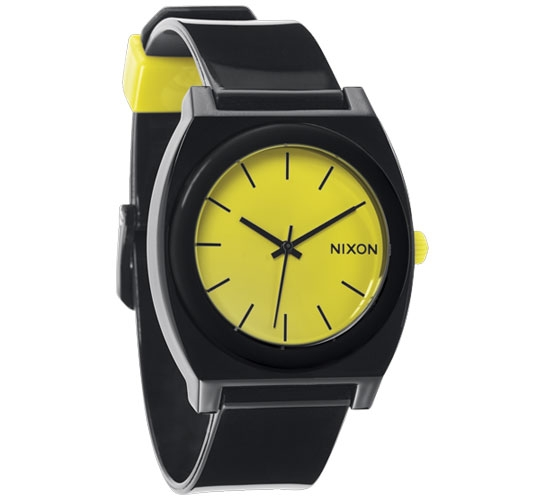 Nixon The Time Teller P Watch (Black/Lime)