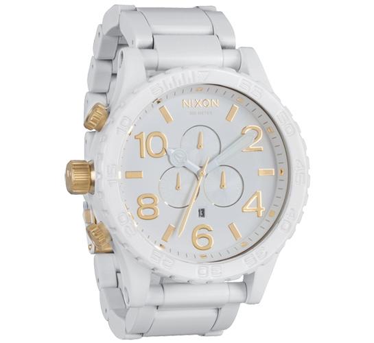 Nixon The 51-30 Chrono Watch (All White/Gold)