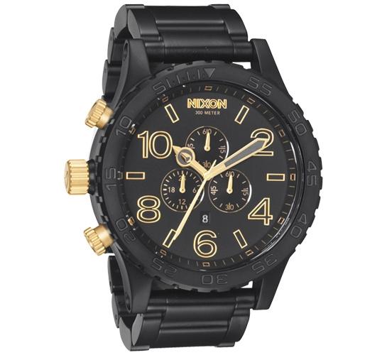 Nixon The 51-30 Chrono Watch (Matte Black/Gold)