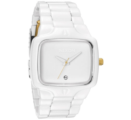 Nixon The Player Watch (All White/Gold)