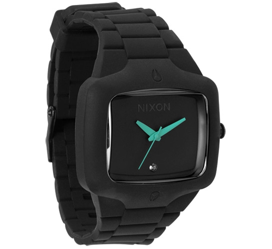 Nixon The Rubber Player Watch (Black/Teal)