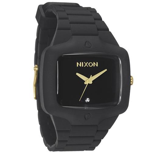 Nixon The Rubber Player Watch (Matte Black/Gold)