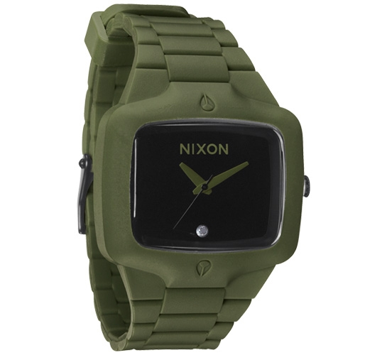 Nixon The Rubber Player Watch (Matte Black/Surplus)