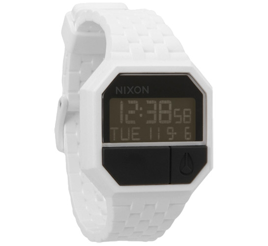 Nixon The Rubber Re-Run Watch (White/Black)