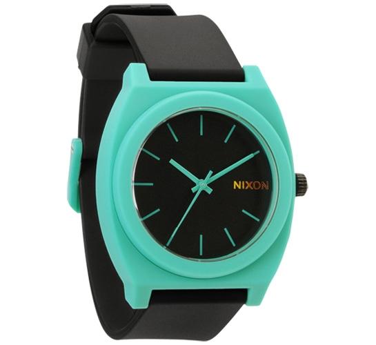 Nixon The Time Teller P Watch (Black/Teal)