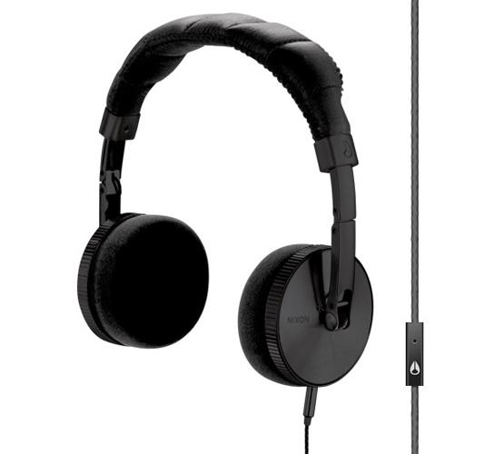 Nixon Nomadic Mic Headphones (All Black)