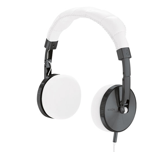 Nixon Nomadic Headphones (Gunmetal/White)