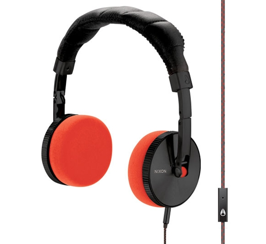 Nixon Nomadic Mic Headphones (Black/Orange)