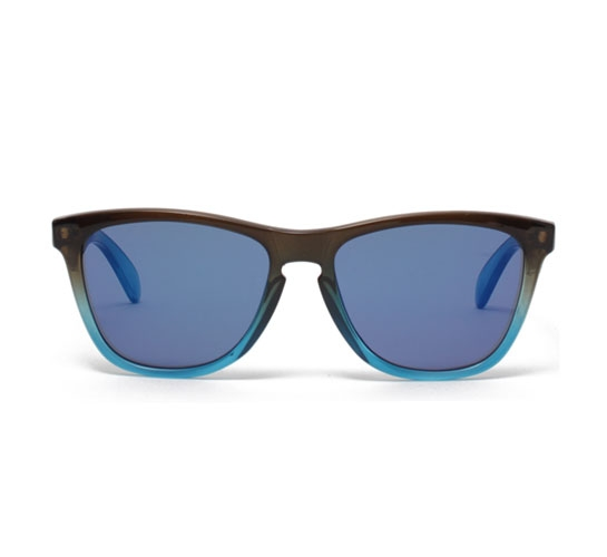 Oakley Frogskins Sunglasses (Rootbeer/Cyan Fade/Blue Iridium)