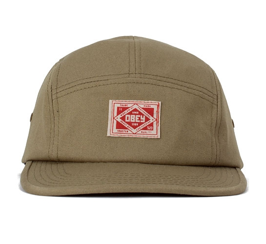 Obey Trademark Five Panel Cap (Army)