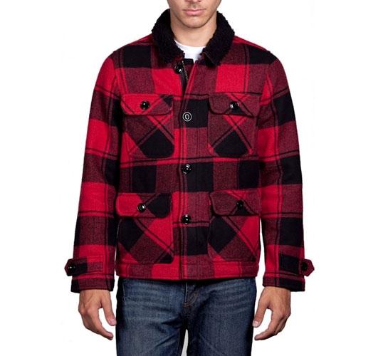 Obey Men's Jacket - Burlington (Red)