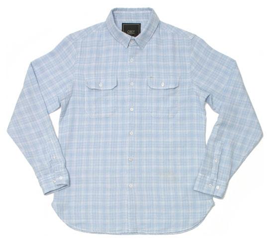 Obey Men's Shirt - Carpenter (Heather Blue)