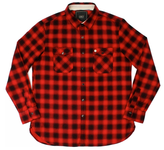 Obey Men's Shirt - Hometown (Red)
