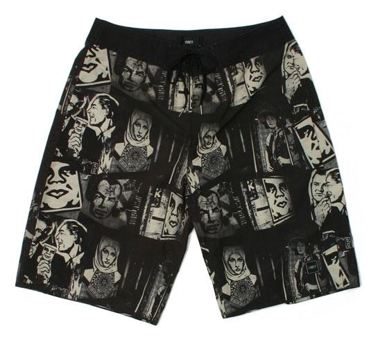 Obey Men's Shorts - City Jungle (Cream)