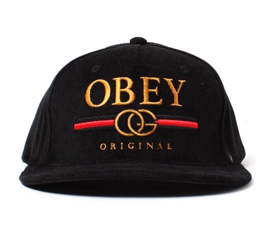 Obey Snapback Cap - Obey High Post Snapback Cap (Black)